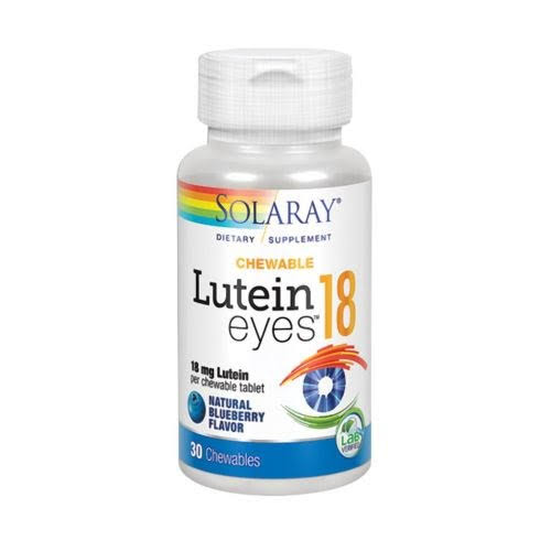 Solaray Lutein Eyes - 30 Blueberry Chewables