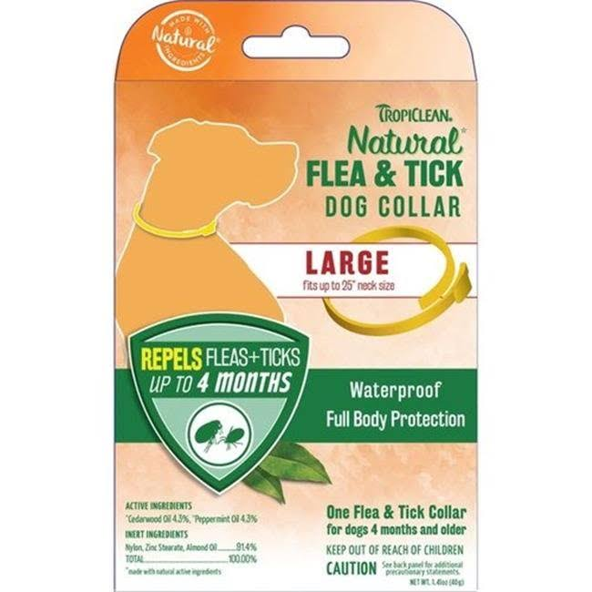 Tropiclean Natural Flea And Tick Dog Collar - Large