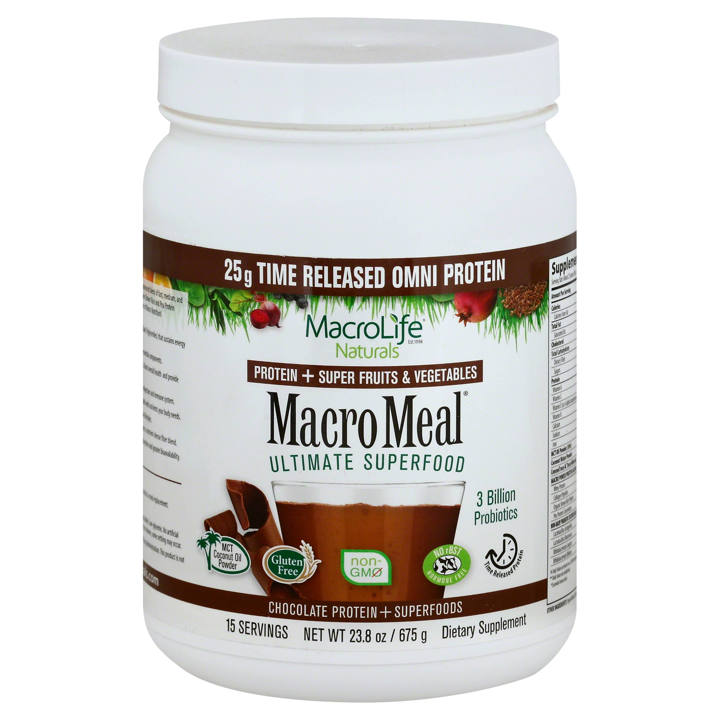 Macrolife Naturals Macro Meal Superfood - Chocolate