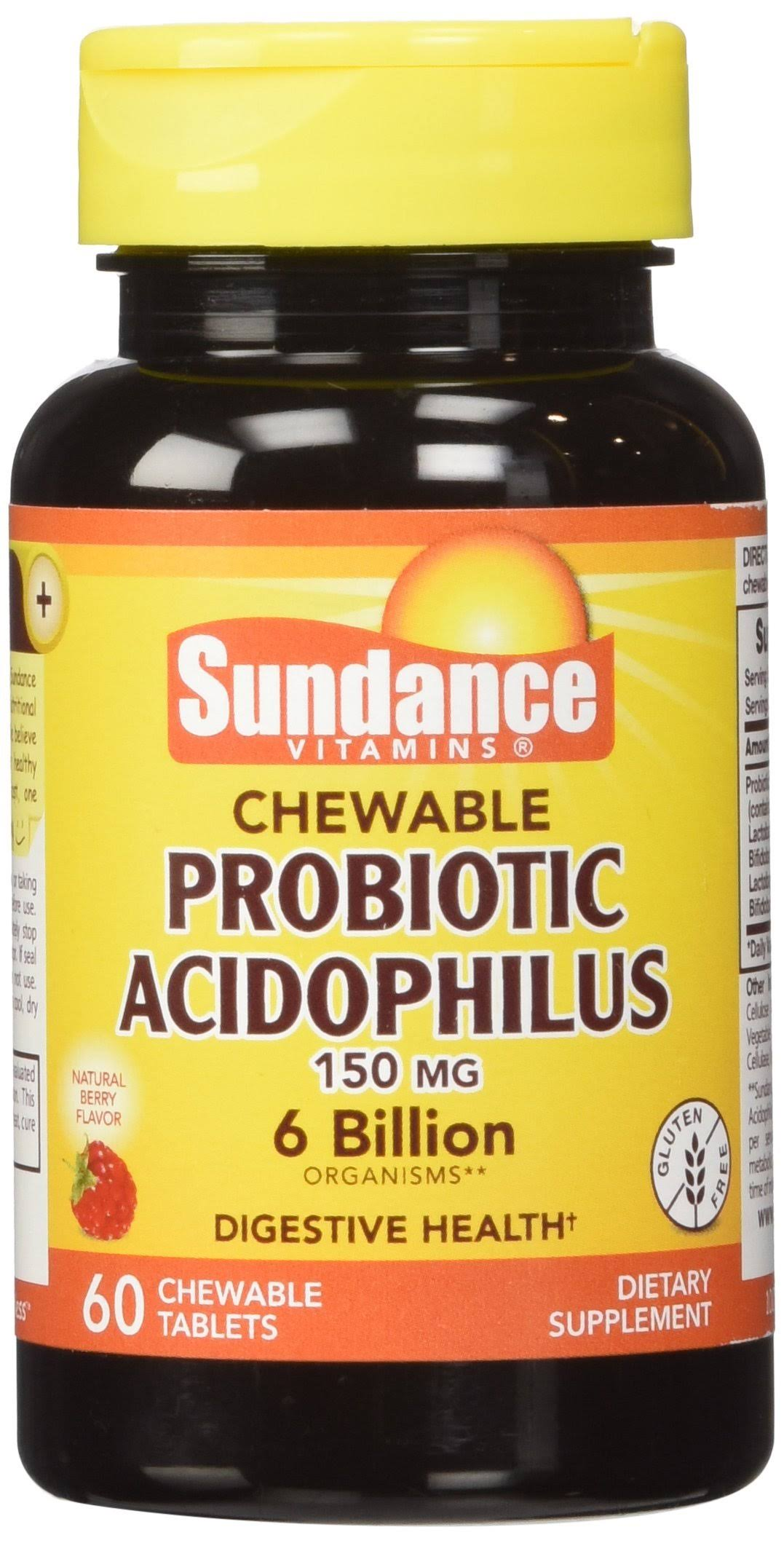 Sundance Probiotic Acidophilus - 60 Chewable Tablets