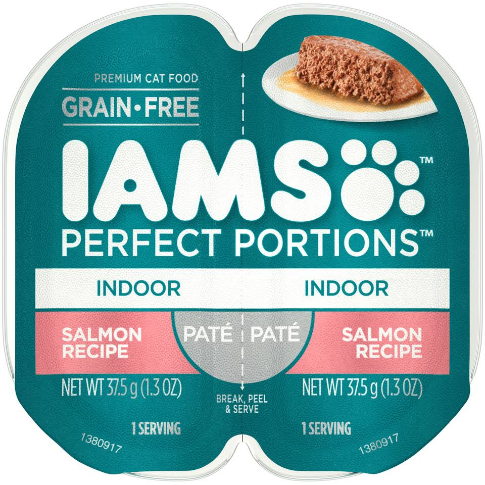 Iams Cat Wet Food Indoor Pate Salmon