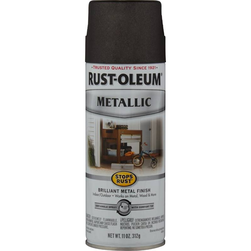 Rust-Oleum Metallic Oil Rubbed Bronze Brilliant Metal Finish Spray Paint - 11 oz