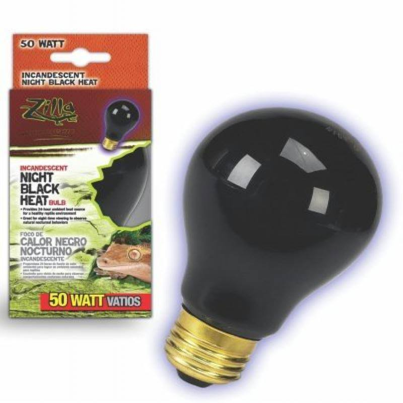 Zilla Incandescent Bulb - Night Black Heat, 50W