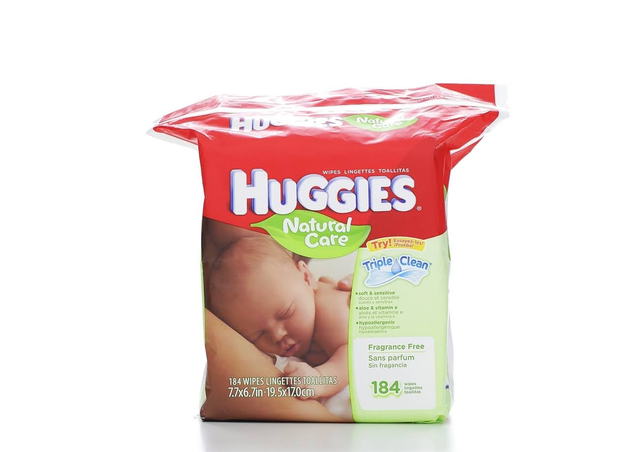 Huggies Natural Care Wipes - 184 Wipes