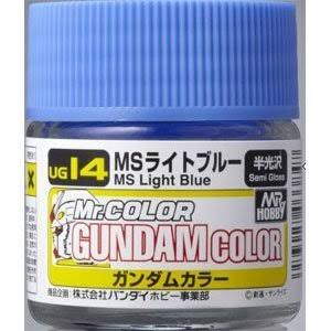 GSI Creos Mr. Hobby Mr Gundam Color UG14 MS Light Blue 10ml Semi-Gloss