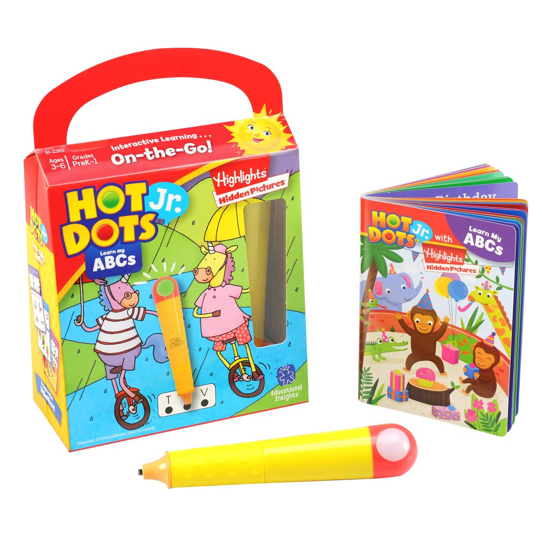 Hot Dots Jr. with Highlights On-The-Go! Learn My ABCs