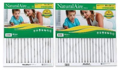 "PrecisionAire 84855.01162 Natural Merv8 Pleated Furnace Filter - White, 16"" X 20"""
