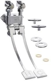 Foot Pedal Faucet Valve by Zurn Z85500 Xl Wm Wall Mounted Self Closing Double Foot Pedal