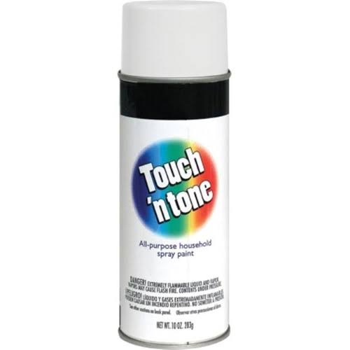 Rust-Oleum Touch & Tone Spray Paint - Flat White, 283g