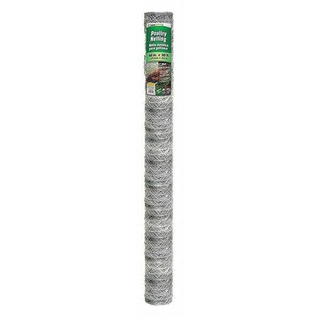 "Midwest Air Mesh Galvanized Poultry Netting - 48"" x 50'"