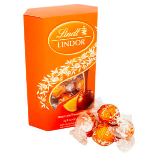 Lindt Lindor Milk Orange Chocolate, 200 G