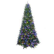 Artificial Christmas Tree 6ft by Home Accents Holiday 7 Ft To 10 Ft Led Pre Lit Adjustable Rising