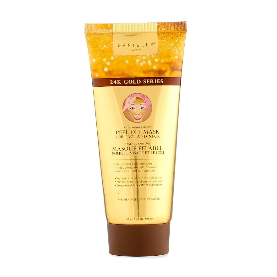 Danielle Creations Anti-Aging Peel-Off Face and Neck Mask - 24k Gold Series