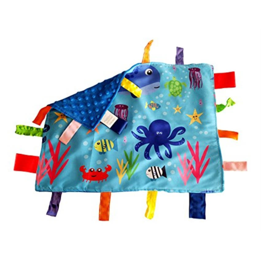 Baby Jack & Co Learning Baby Blanket - Ocean Animals