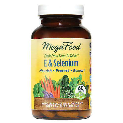 Megafood E and Selenium Supplement - 60 Tablets