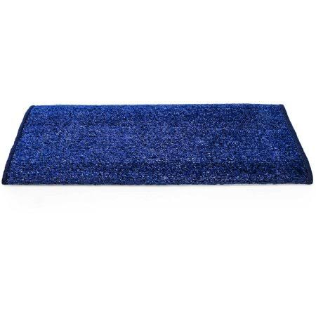 Camco 42943 Premium Wrap Around RV Step Rug, Turf Material (22 inch x 23 inch), Blue