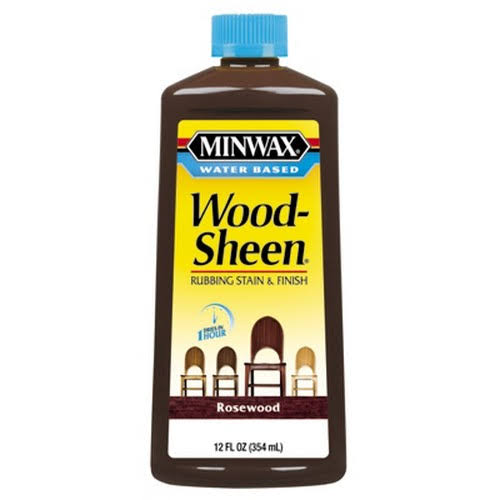Minwax 30451 Water Based Woodsheen Wood Stain - Rosewood, 12oz