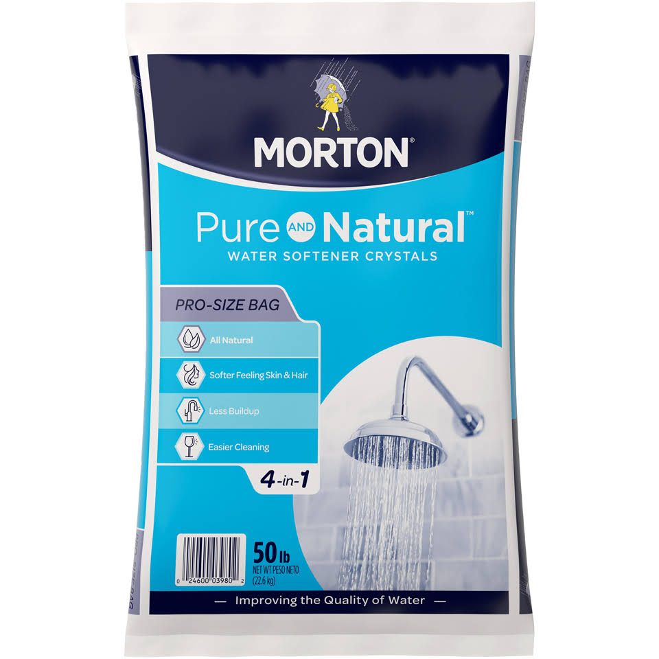 Morton Salt 3980 Extra Coarse Solar Salt - 50lbs