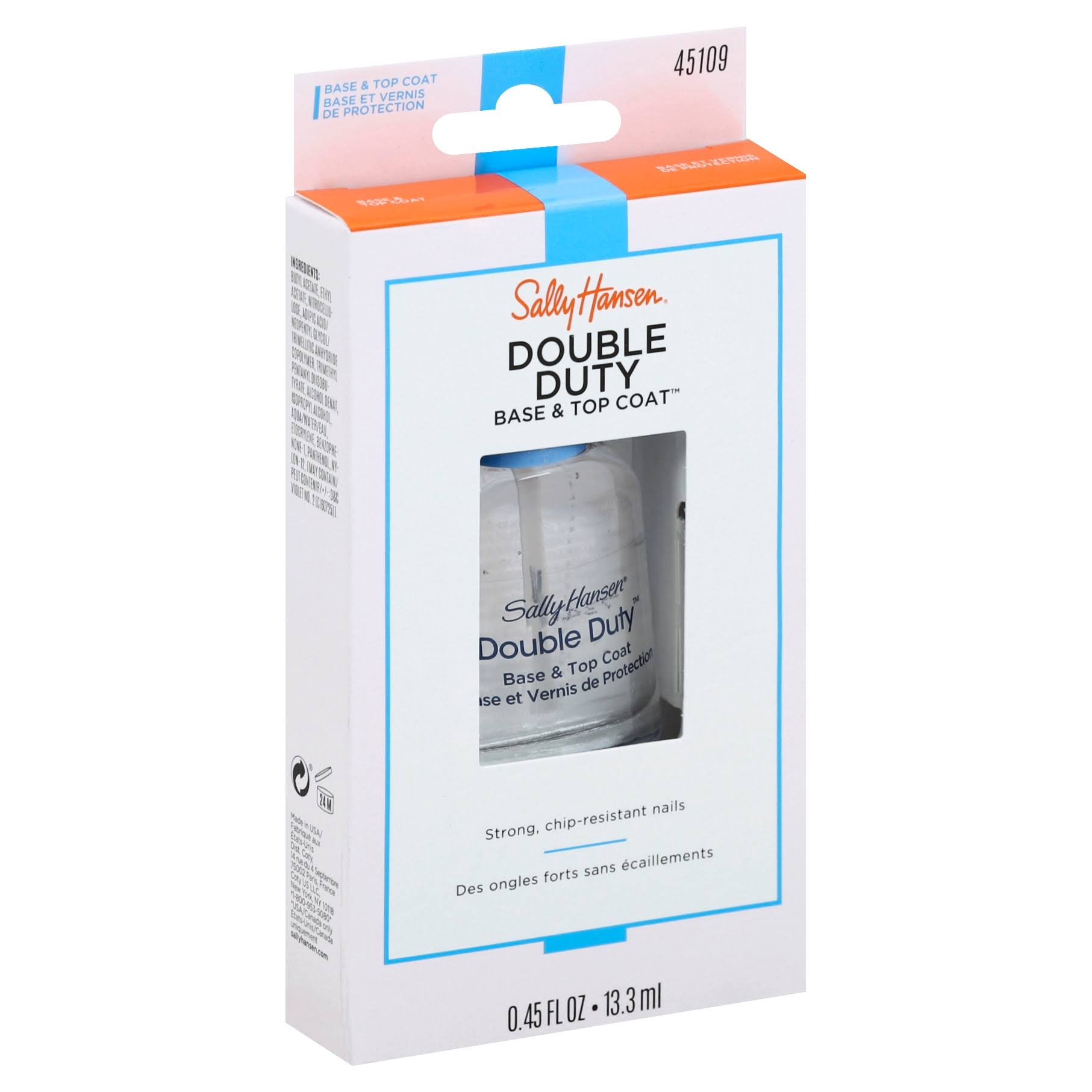 Sally Hansen Base & Top Coat, Double Duty - 0.45 fl oz