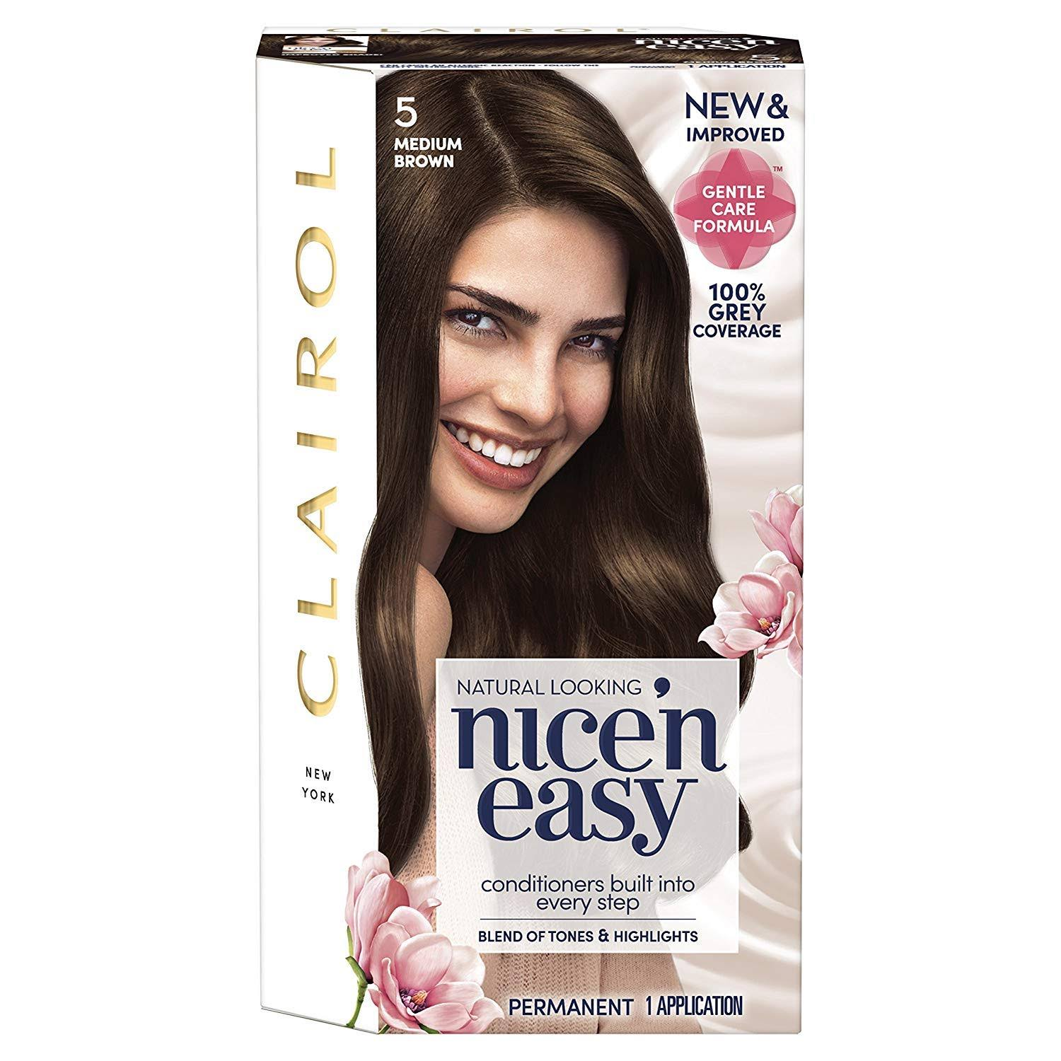 Clairol Nice'n Easy Permanent Hair Dye - 5 Medium Brown
