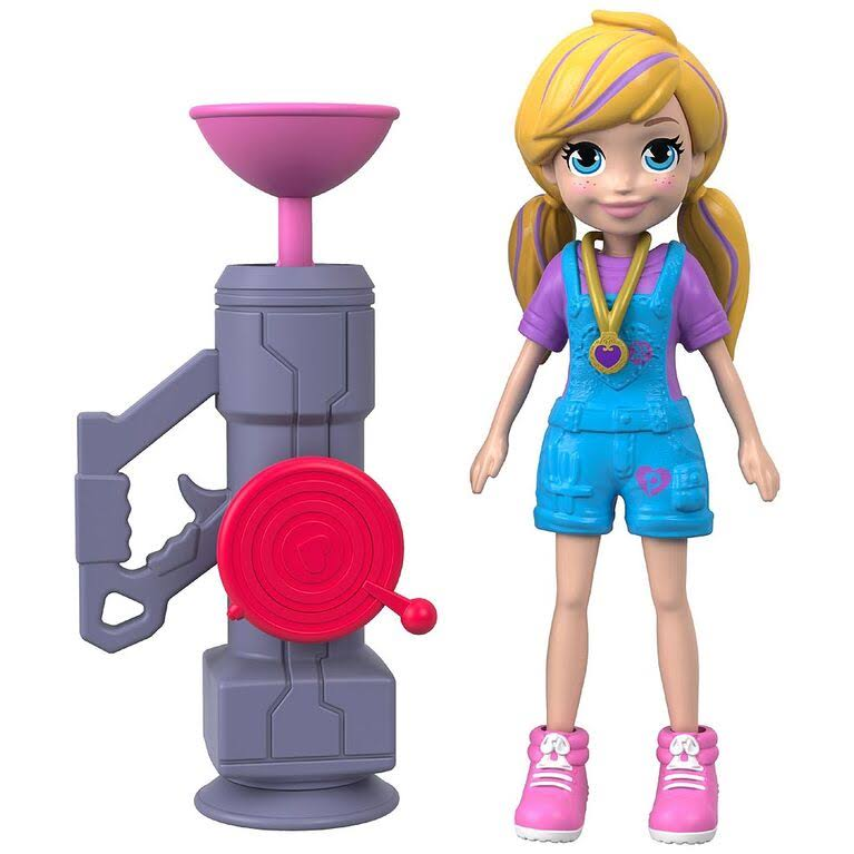 Polly Pocket Active Pose Doll - Zip N' Blast Polly