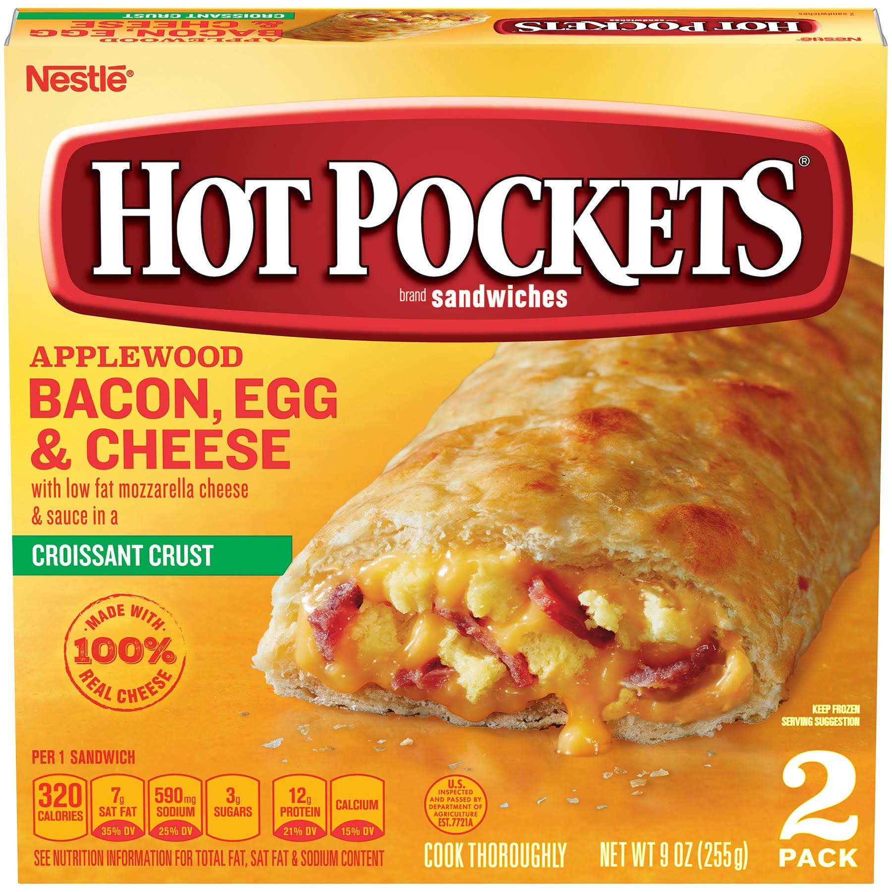 Hot Pockets Applewood Bacon Egg and Cheese Sandwiches - 2ct, 9oz
