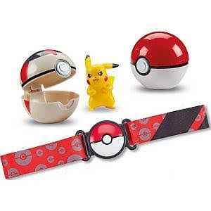 Pokemon Pikachu Clip N Go Poke Ball Belt Set