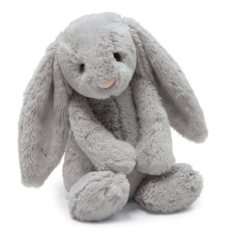 Jellycat Bashful Soft Plush Toy - Grey Bunny, Medium, 12""