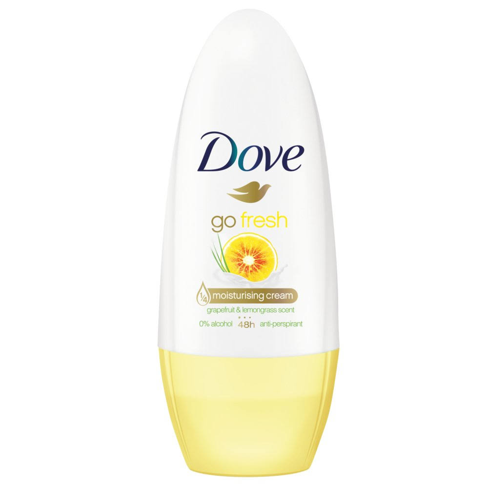 Dove Go Fresh Scent Roll-On Antiperspirant - Grapefruit and Lemongrass, 50ml