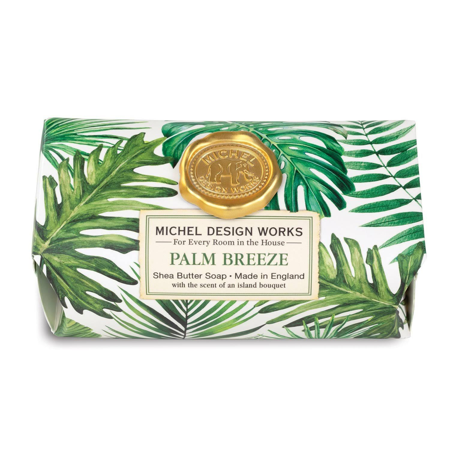 Michel Design Works Large Bath Soap Bar - Palm Breeze | zillymonkey