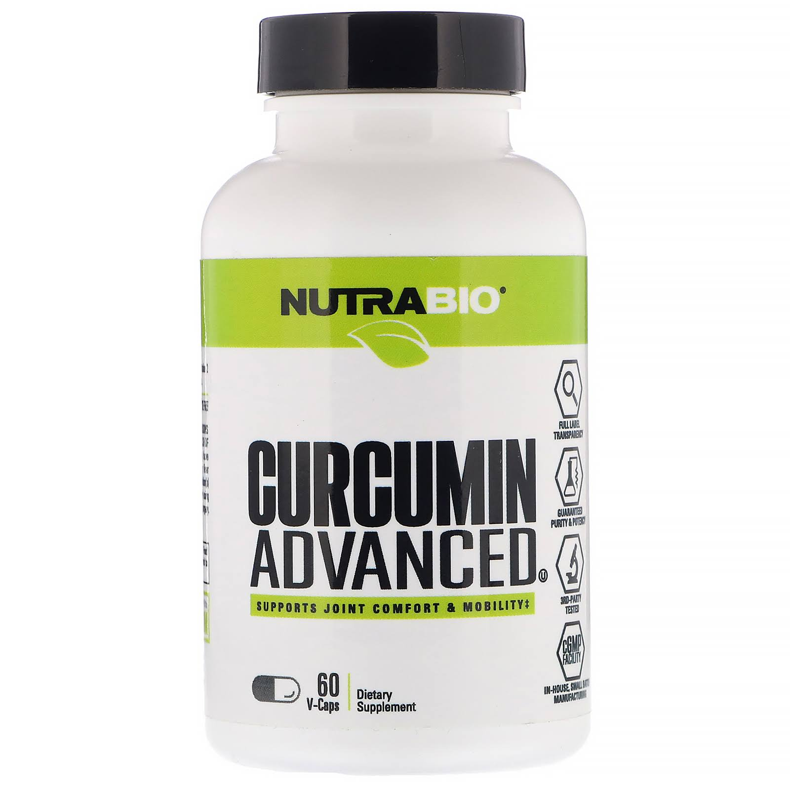NutraBio Labs Curcumin Advanced 60 V-Caps