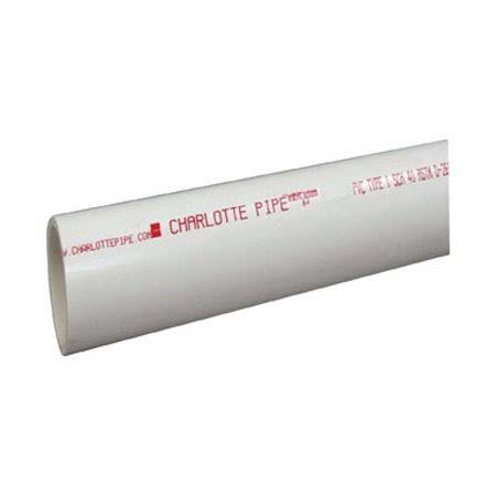 "Charlotte Pipe and Foundry Schedule 40 PVC Pipe - 3"" x 10'"