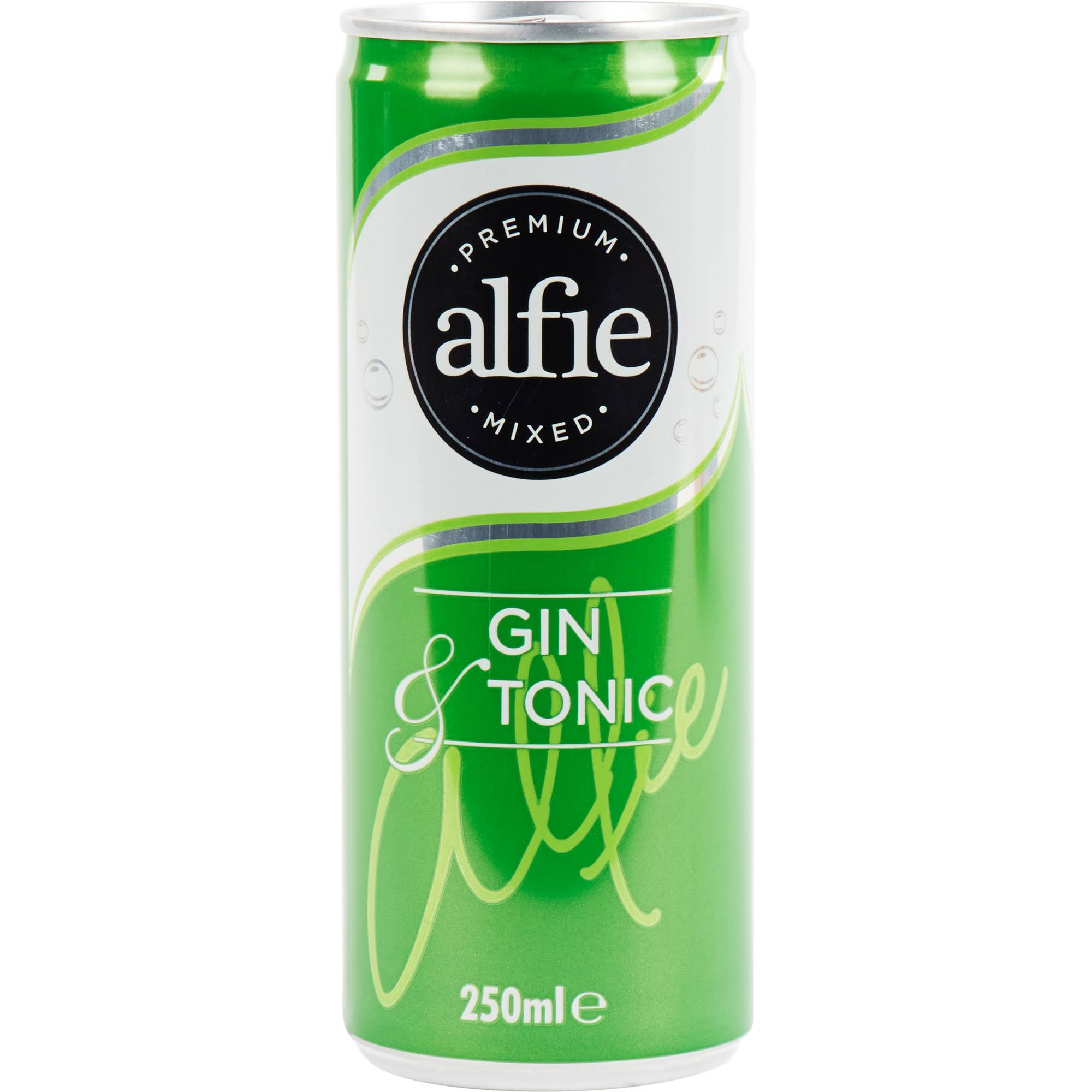 Alfie Premium Mixed Gin and Tonic - 250ml