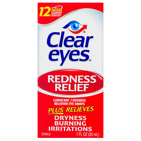 Clear Eyes Redness Relief Lubricant/Redness Reliever Eye Drops - 1 fl oz