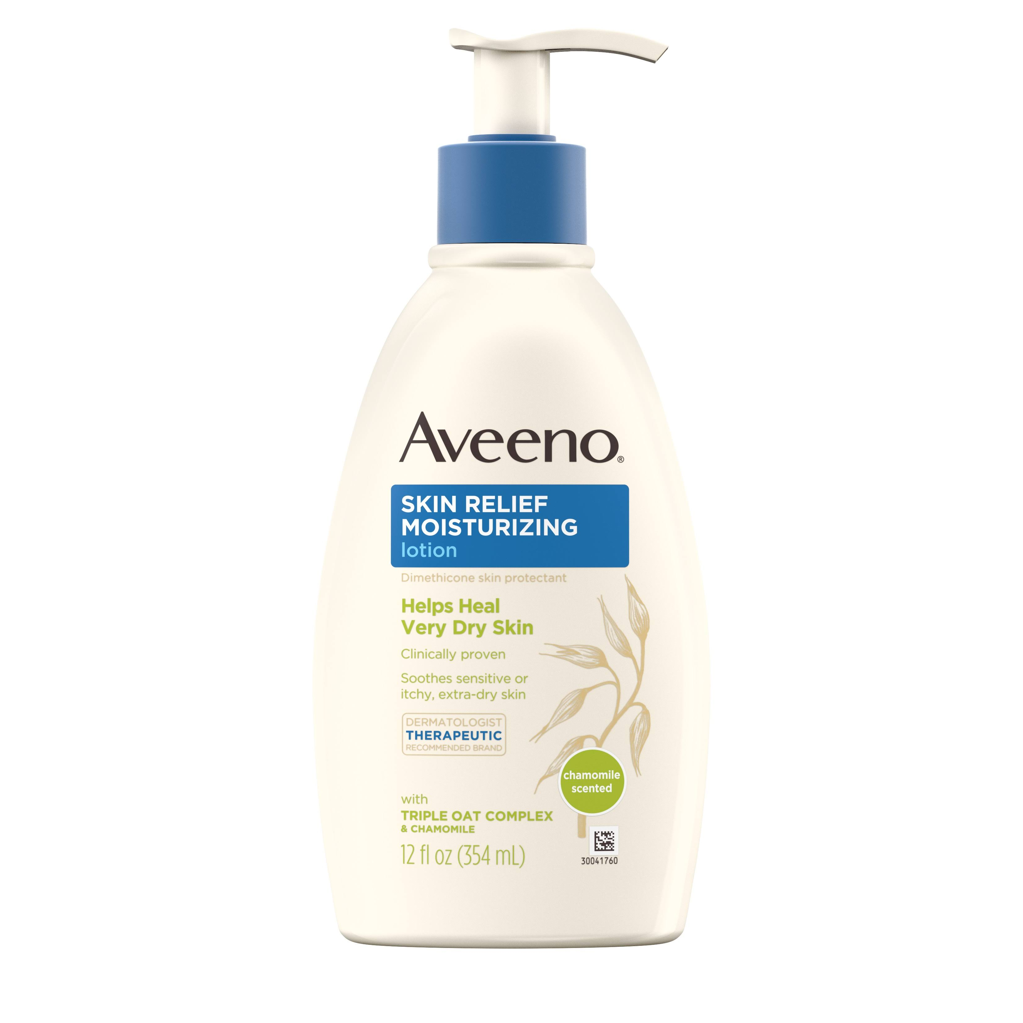 Aveeno Active Naturals Skin Relief Soothing Oat & Chamomile Gentle Scent Lotion - 12 oz