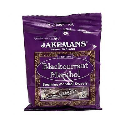 Jakemans Blackcurrant Menthol Soothing Menthol Sweets - 100g