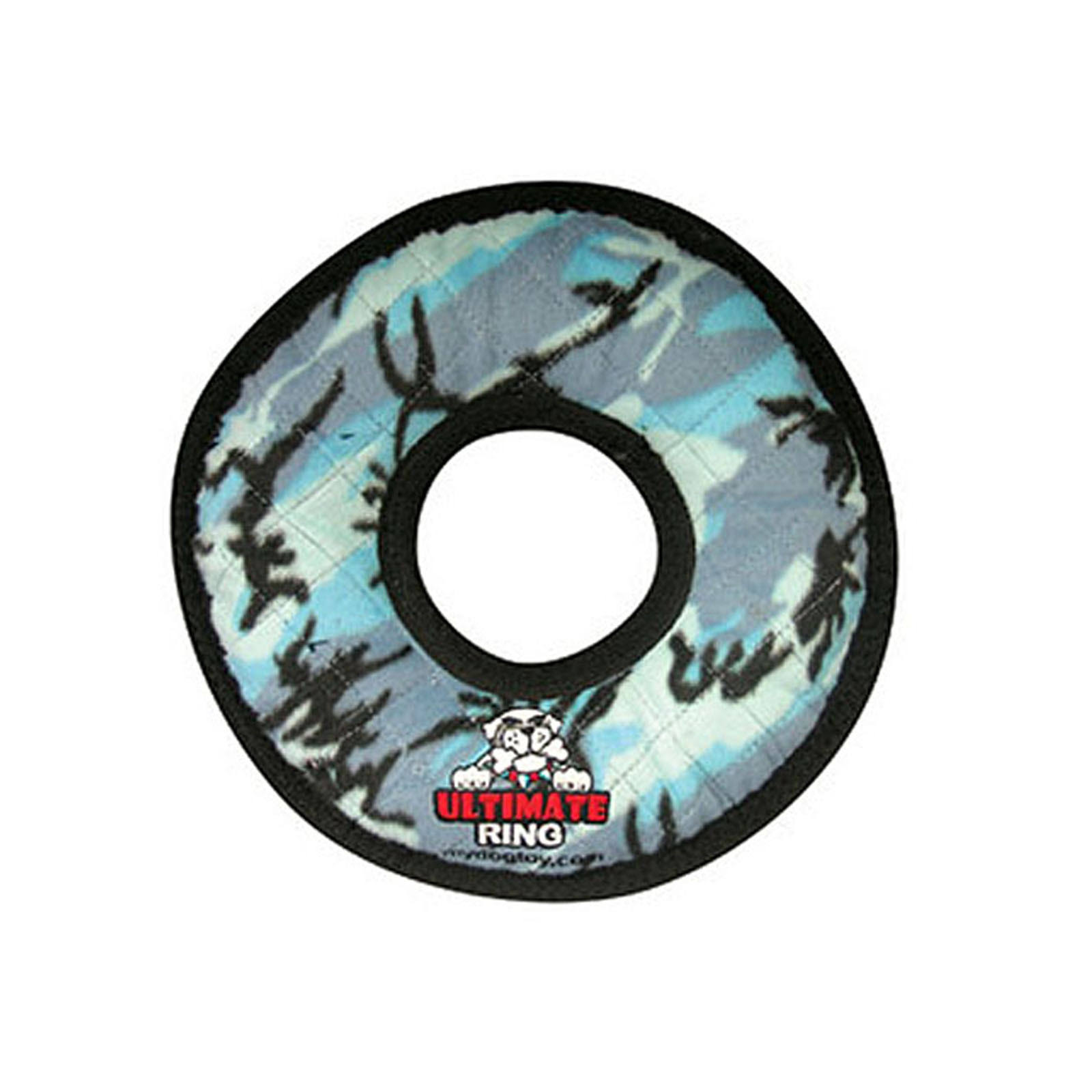 Tuffy's Pet Products Ultimate Ring Dog Toy - Blue Camouflage