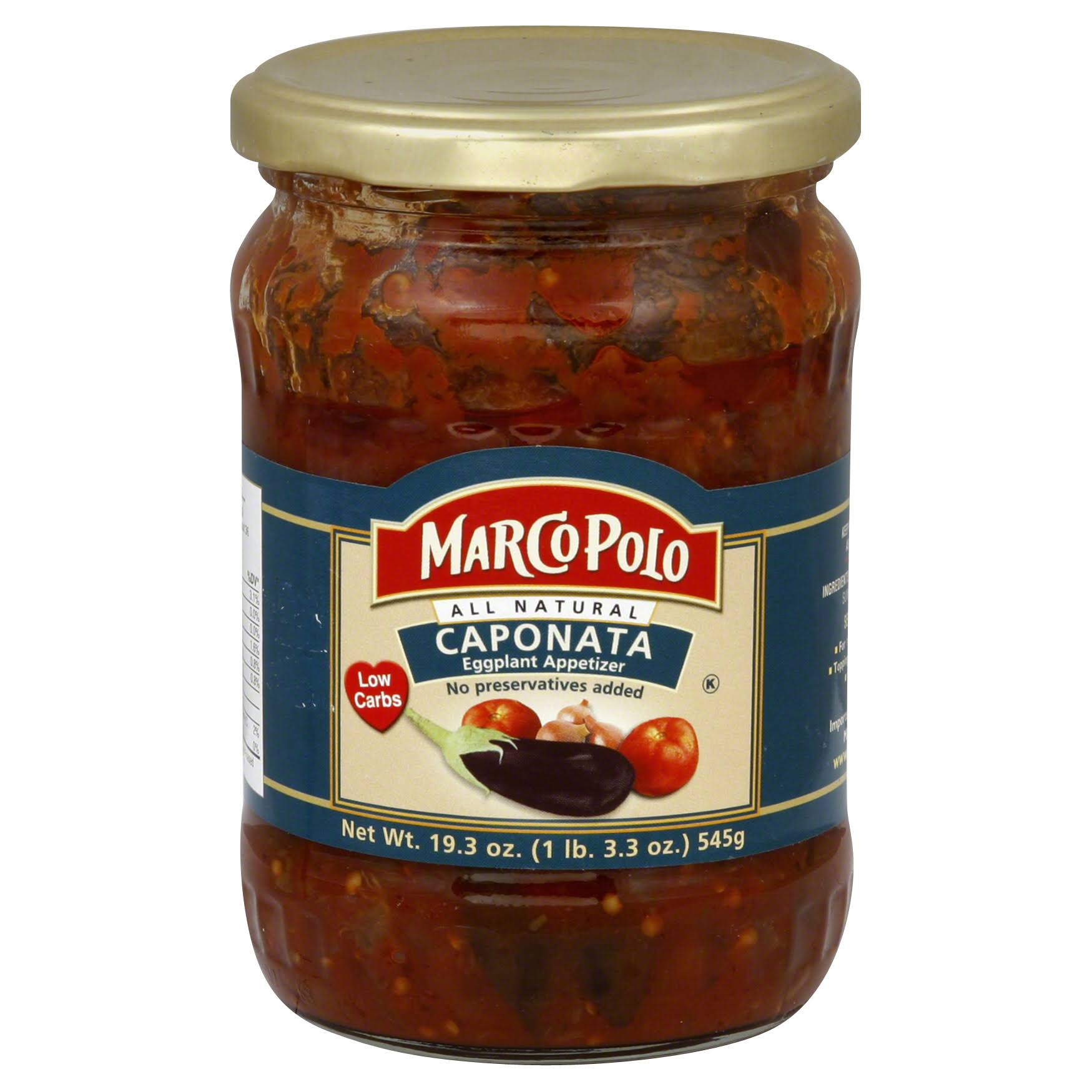 Marco Polo All Natural Caponata Eggplant Appetizer - 545g