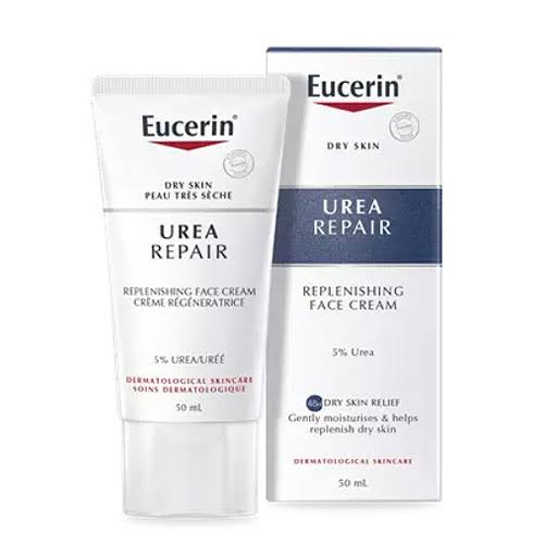 Eucerin Dry Skin Replenishing Face Cream - 5 Percent Urea with Lactate, 50ml