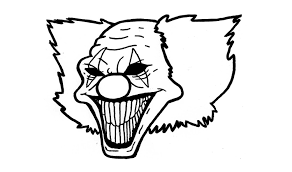 Evil Clown Pumpkin Stencils by Scary Halloween Clowns Drawings U2013 Festival Collections