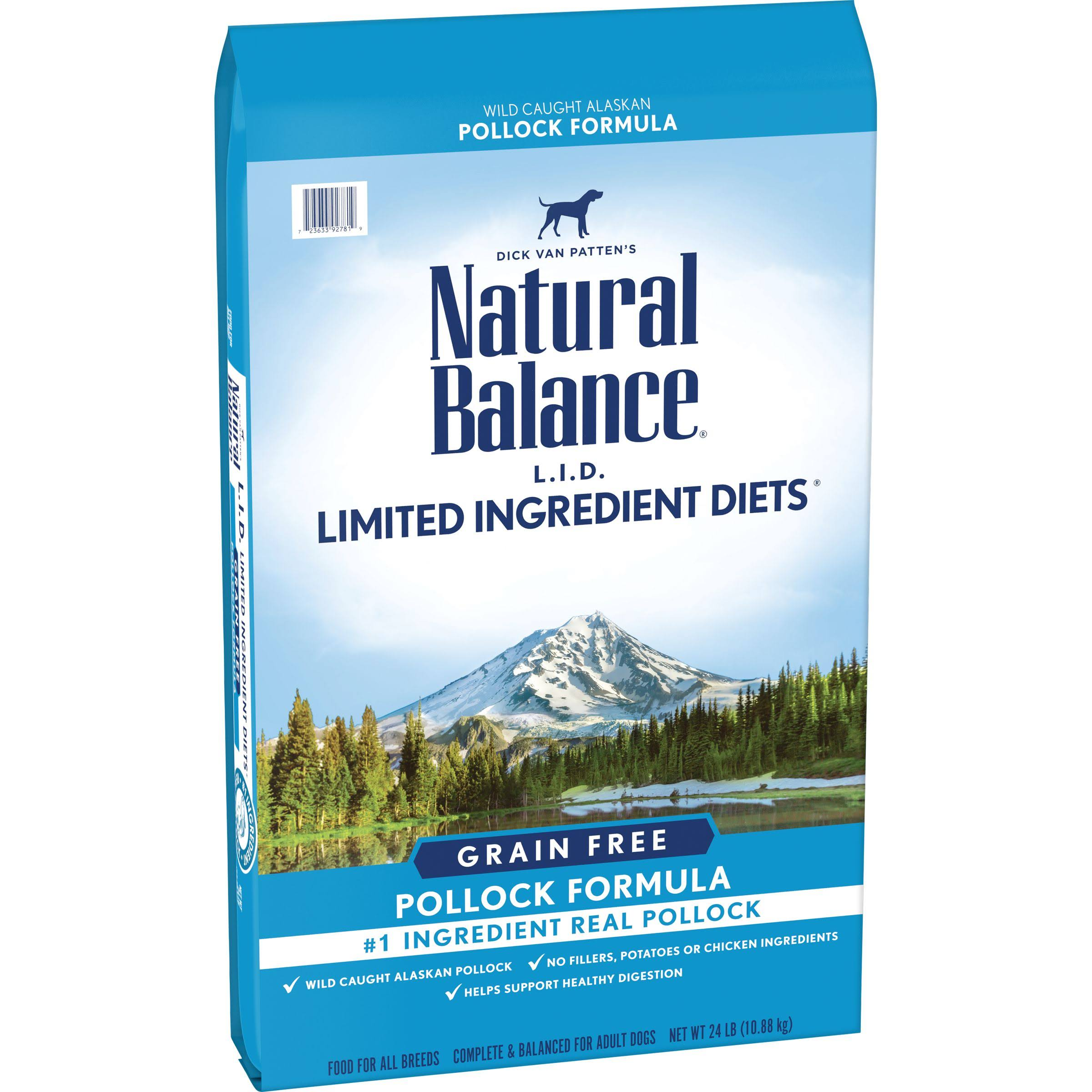 Natural Balance L.I.D. Limited Ingredient Diets Grain Free High Protein Pollock Formula Dry Dog Food (24 lb)
