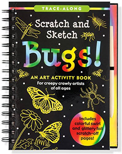 Scratch and Sketch Bugs: Trace Along Activity Book - Betsy Kelley