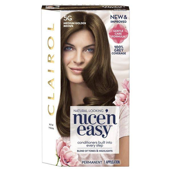Clairol Nice'n Easy Permanent Hair Dye - 5g Medium Golden Brown