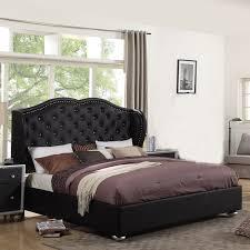 Wayfair White King Headboard by Ufe Courtney Black Platform Bed Diamond Tufting With Upholstery