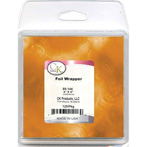 CK Products 89-144G Foil Wrappers 4 x 4 Orange
