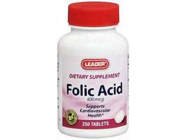Leader Folic Acid 400mcg Tablets - x250
