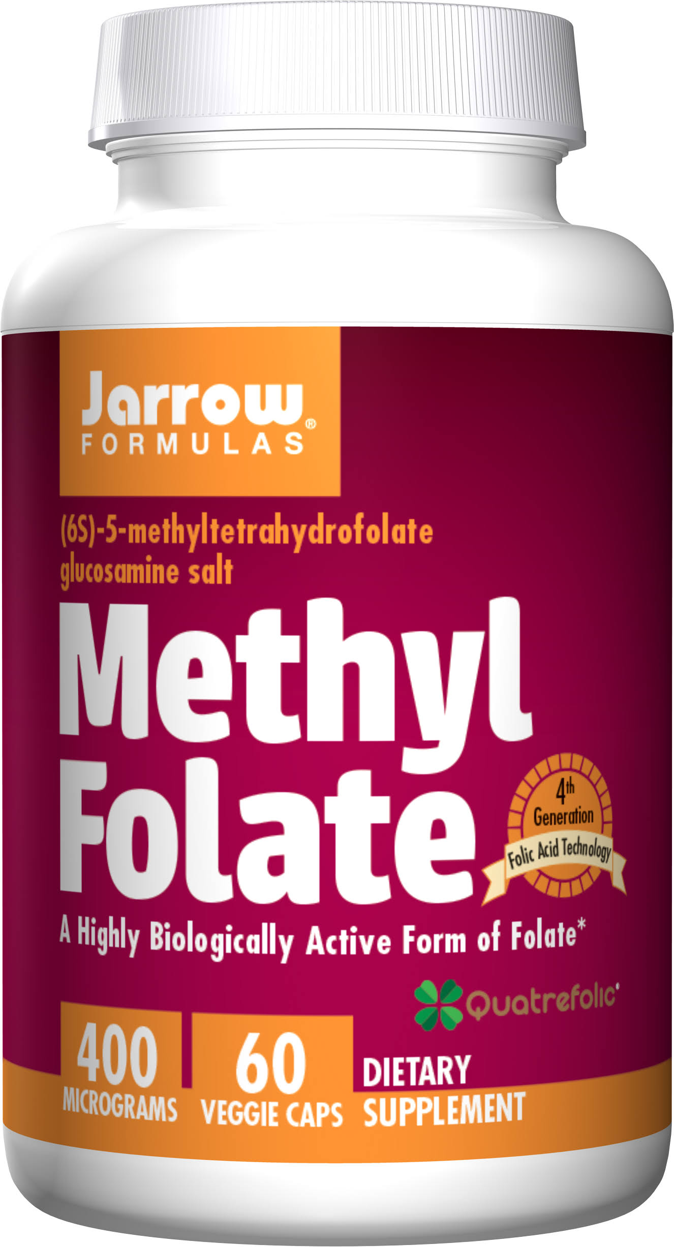 Jarrow Formulas Methyl Folate - 500mg, 60 Capsules