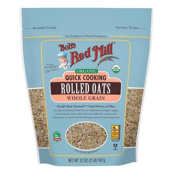 Bob's Red Mill Oats, Rolled, Organic, Quick Cooking, Whole Grain - 32 oz