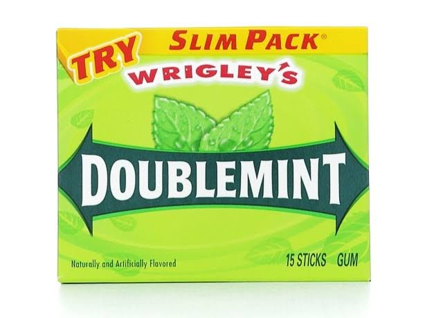 Wrigley's Doublemint Gum - Slim Pack, 15 Sticks