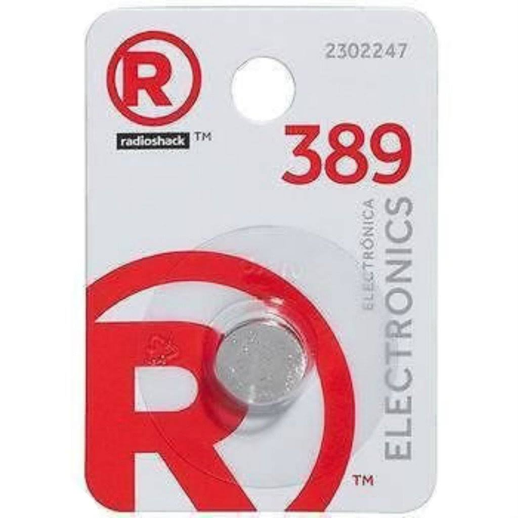 RadioShack 389 Button Cell Battery - Silver Oxide, 1.55V, 10mAh